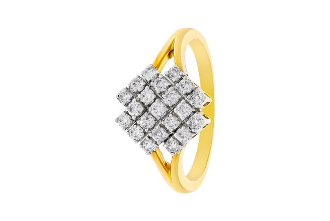 Sparkling Cluster Diamond Ring