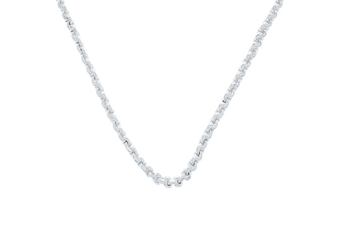 Designer Silvered Linked Chain