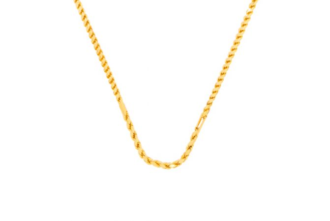 Glossy Finish Linked Gold Chain