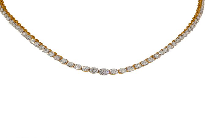Glittering Eternity Diamond Necklace
