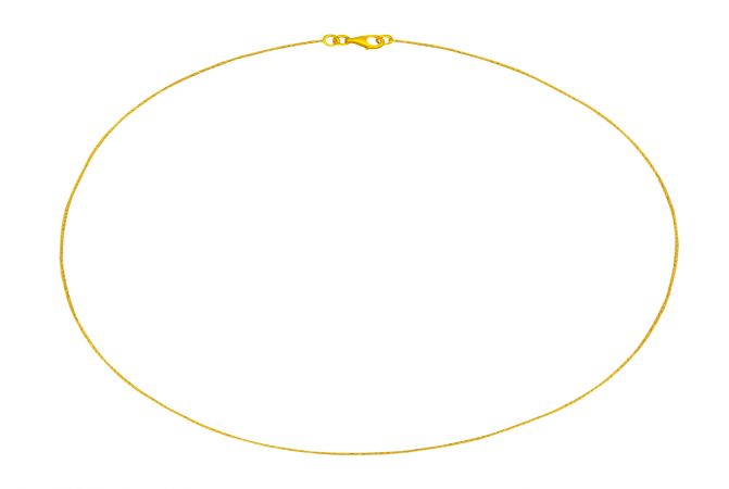 Box Spiral Yellow Gold Chain