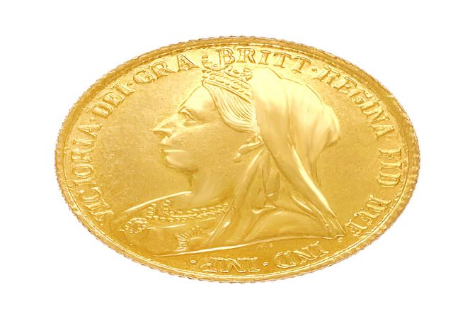 8 Gms 916 Purity Queen Victorica Gold Coin-AGJC064