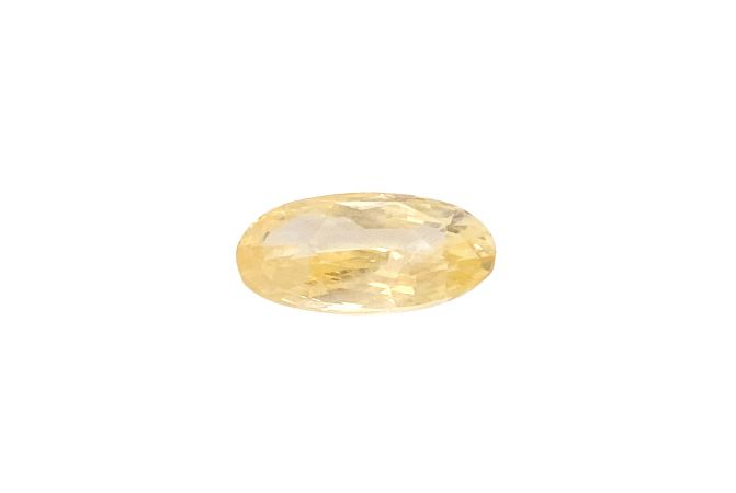 Natural 3.9 Carat Oval Faceted Yellow Sapphire Gemstone