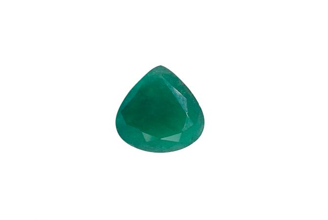 Natural 5.28 Carat Pear Faceted Green Emerald Gemstone