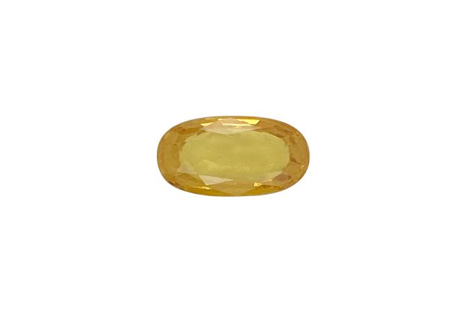 Natural 4.11 Carat Oval Faceted Yellow Sapphire Gemstone