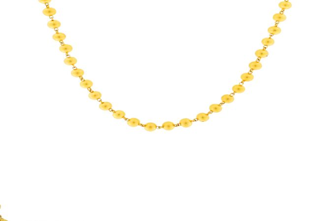 Traditional Gold Bead Necklace