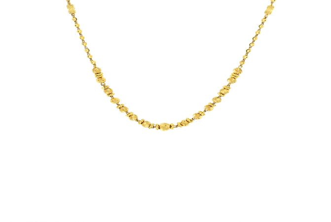 Unique Traditional Gold Ball Bead Necklace