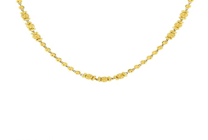 Fancy Traditional Designer Gold Ball Bead Necklace