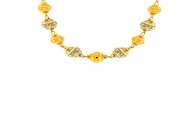 Elegant Gold Ball Bead Necklace