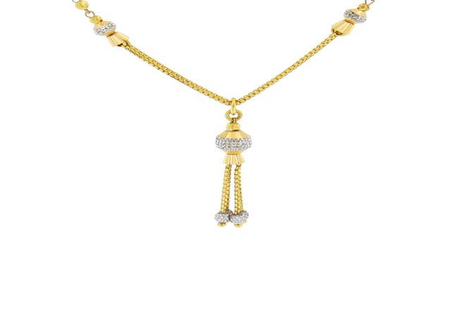 Traditional Dangler Bead Gold Necklace