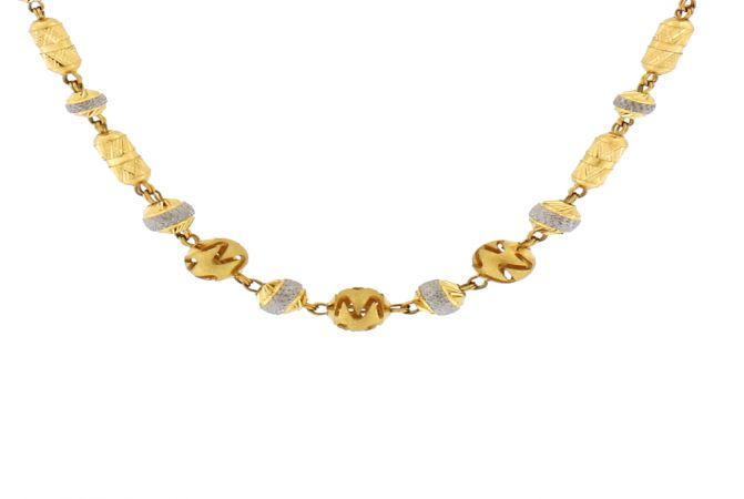 Classical Engraved Gold Necklace