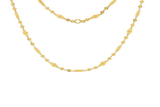 Trendy Traditional Design Gold Bead Necklace