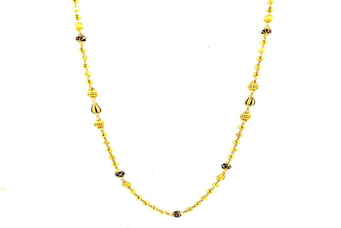 Traditional Enamel Mohanmala Gold Necklace -MHO0662