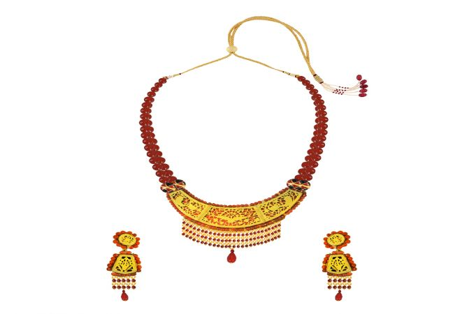 Eternal Red Onyx Thewa Jewellery Necklace Set