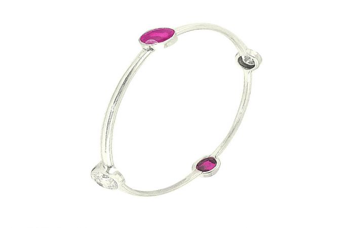 Eternal Onyx Gemstone 925 Silver Bangle