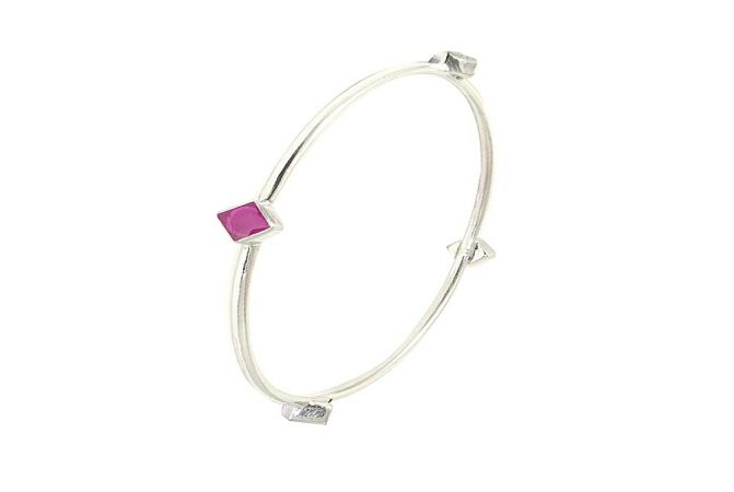 Ravish Gemstone 925 Silver Bangle