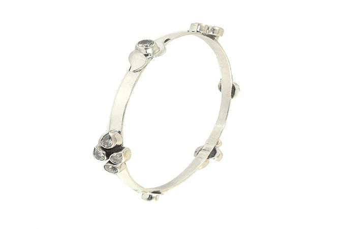 Heavenly CZ 925 Silver Bangle
