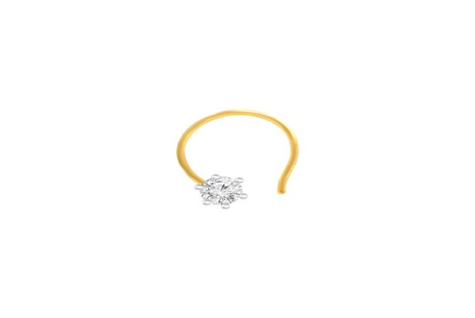 Traditional Daily Wear Yellow Gold 18kt with Diamond  - 262-9NP65