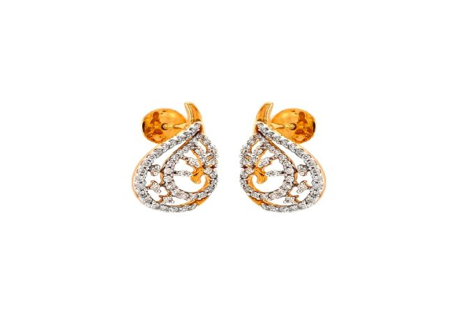 Dainty Drop Diamond Gold Earring-ER11295