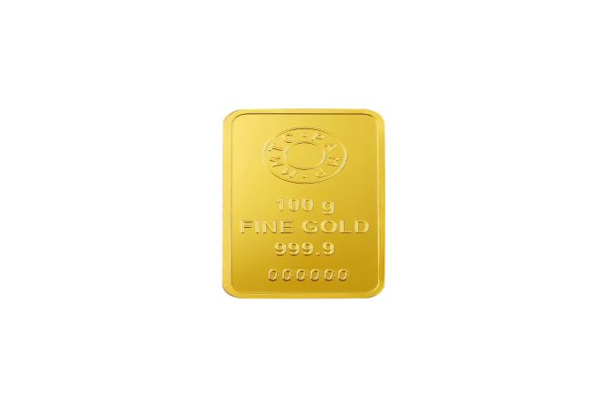 100 Grams 999 Purity Lotus MMTC PAMP Gold Bar-LGOLD100GM