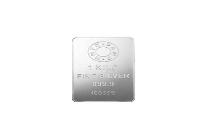 Casted Silver Ingot MMTC PAMP 1000 Gms 999 Purity Silver Bar
