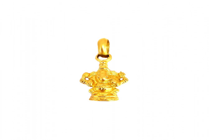 Religious Lord Ganesha Daily Wear Yellow Gold 22kt Pendant -275-120032929