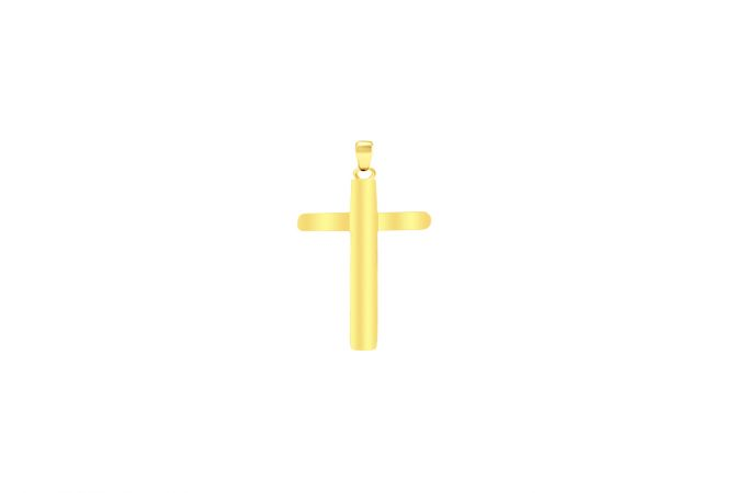 Religious Cross Daily Wear Yellow Gold 22kt Pendant -286-CHLO9101