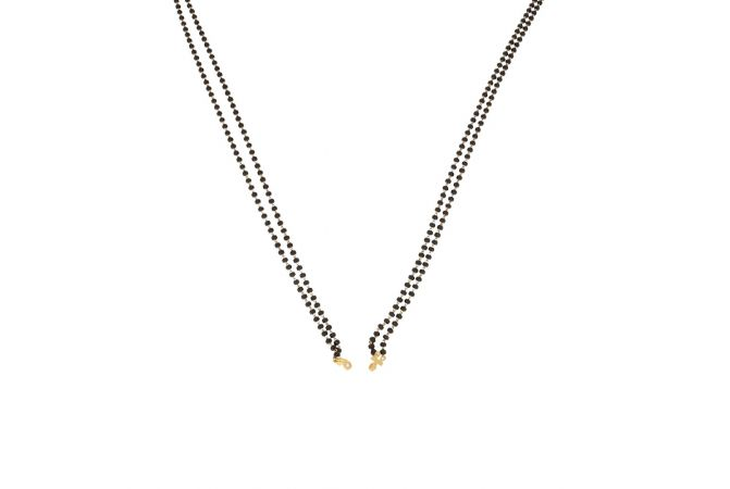 Simple Handmade Two Line Gold Mangalsutra-33010