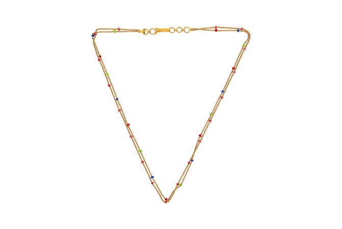 Elegant Bead Chain Gold Necklace