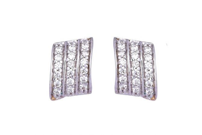 Elegant Sparkling CZ Hoop Earrings-61-A560