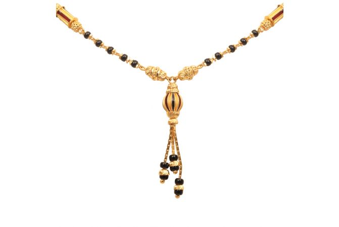 Meena Beads Traditional Gold Mangal Sutra-70097308