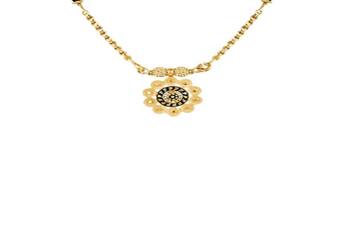 Traditional Floral Gold Mangalsutra-MSEJ100048