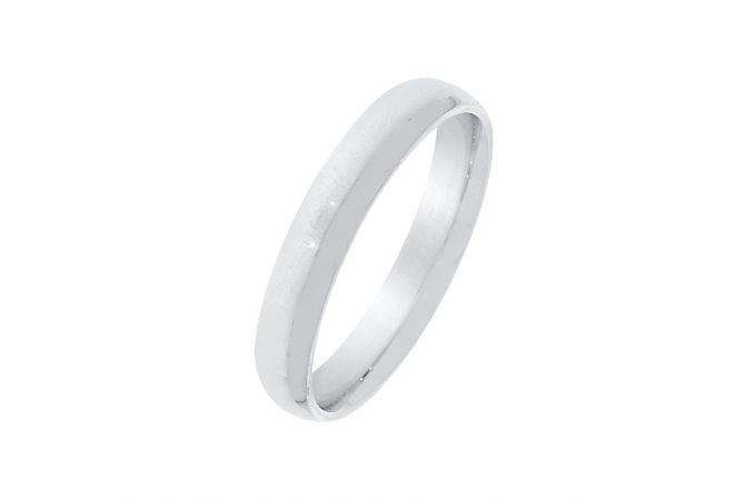 Silvery Plain Band For Him