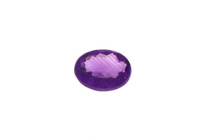6cts Natural Oval Faceted Amethyst