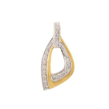 Sparkling Pave Set Alphabet D Design Diamond Pendant