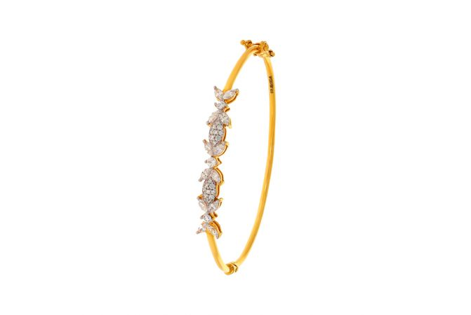 Charming CZ Oval Gold Bracelet