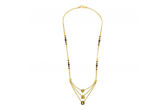 Unique 3 Layered Heart Gold Mangalsutra