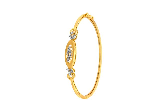 Elite Cutout CZ Oval Diamond Bracelet