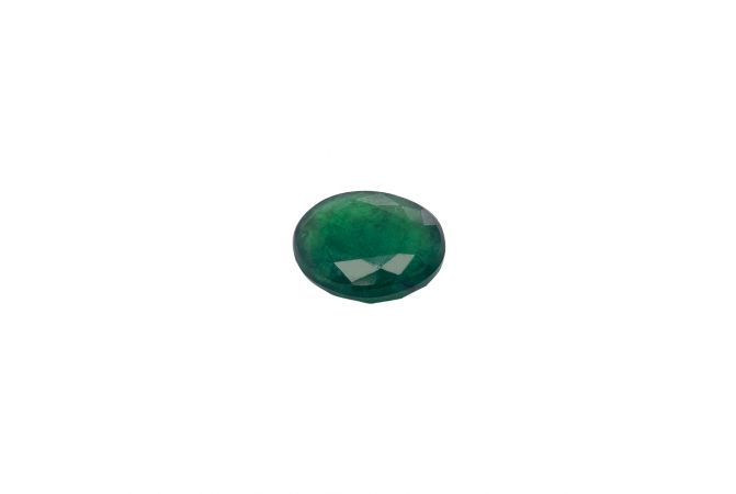 Natural 9.88 Carat Oval Faceted Green Emerald Gemstone