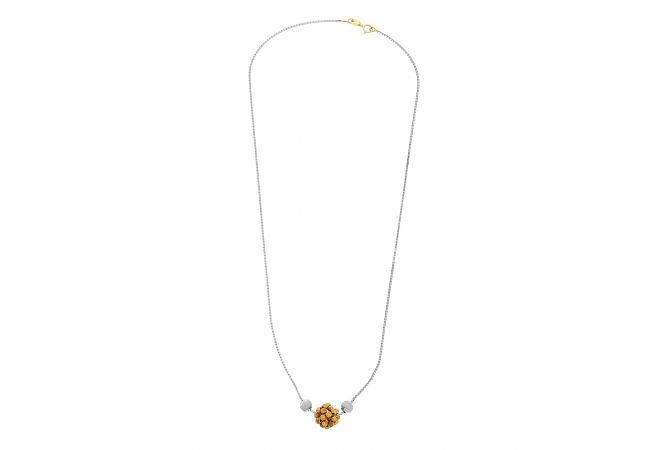 Trendy Textured Gold Bead Chain
