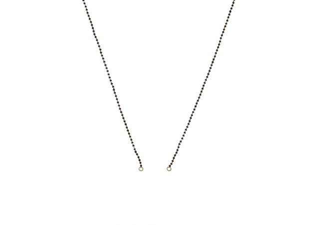 Elegant Single Line With Synthetic Black Bead Gold Mangalsutra Chain-CHN6967