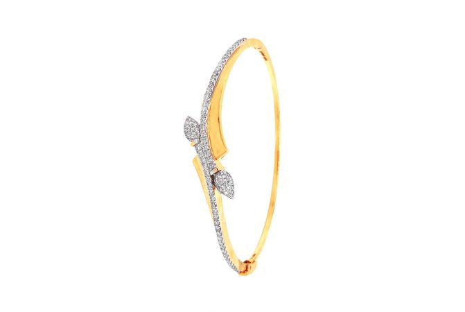 Enchanting Crisscross Design Diamond Bracelet