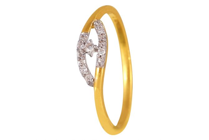 18kt Gold With Marquise Design Diamond Ring - DFR383