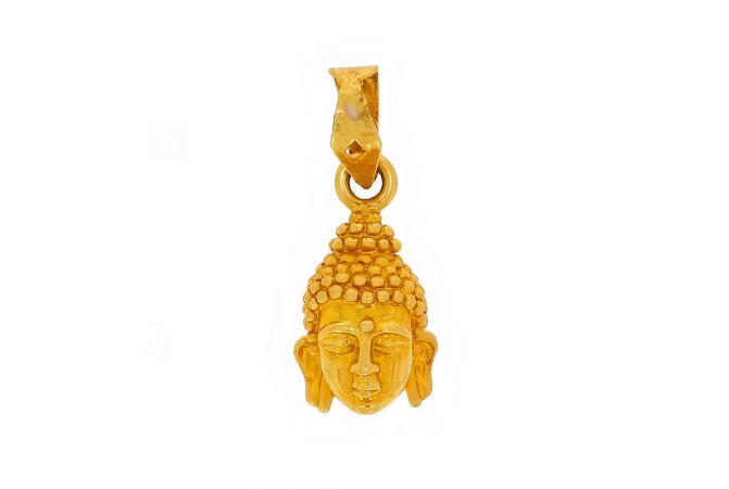 Glossy Matte Finish Lord Buddha Gold Pendant