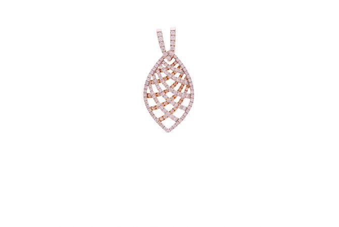 Glittering Crisscross Diamond Gold Pendant