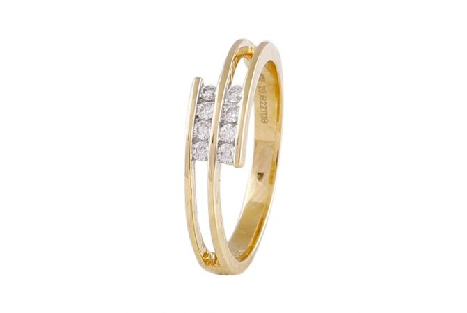 Sparkling Channel Set Dual Connected Diamond Ring-DLR520860