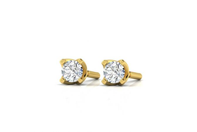 Elegant Classic Four Prong Stud Earrings