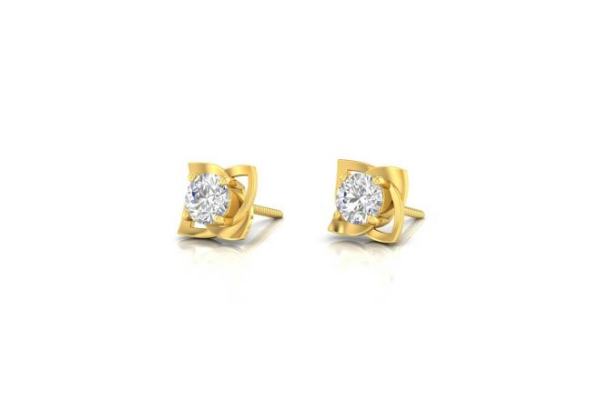 Sparkling Trendy Solitaire Stud Earrings