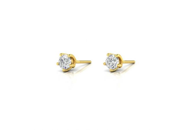 Elegant Trendy Solitaire Stud Earrings