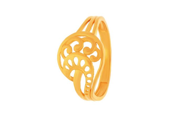 Filligree Curved Gold Ring-FR10262